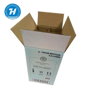 High Quality Cheap Corrugated Carton 6 Bottle Wine Paper Packaging Box With Your Own Logo