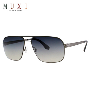 New trendy custom fashion big square shaped stainless steel sunglass mens designer metal sunglasses