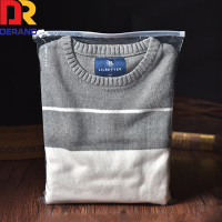 hot sale 2017 transparent printing customized garment packaging slider ziplock bags /transparent packaging ZIPLOCK PLASTIC bag