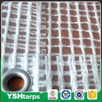 Clear Leno Scaffold Sheeting Checked Plastic PE Sheets For Greenhouse