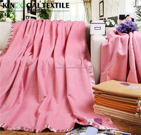 Wholesale spring and autumn hypoallergenic 100% natural silk blankets and throws in pink color