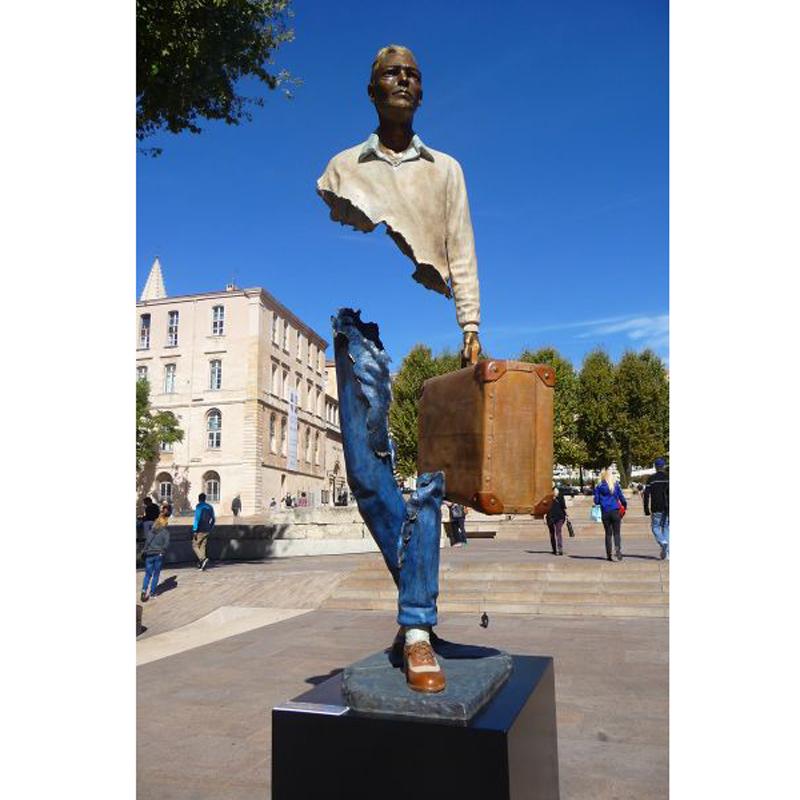 art supplies metal craft bronze traveller statue j4 buy bronze