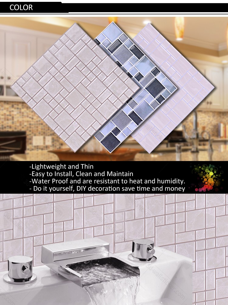 High-quality self-adhesive home luxury 3d wallpaper for kitchen backsplash from China supplier