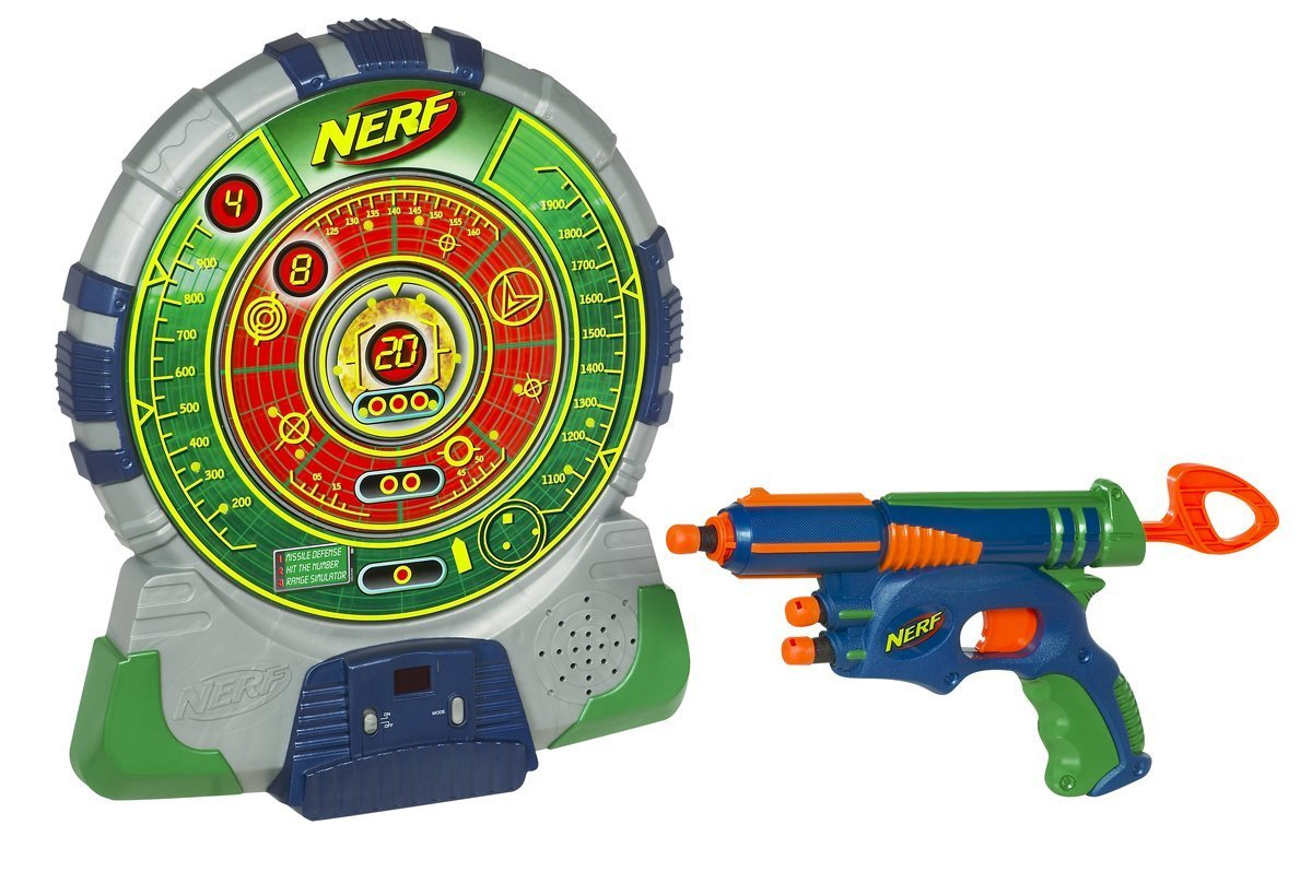 Here's a new spin (ha!) on a Nerf target game for kids! Spinning Nerf  Targets