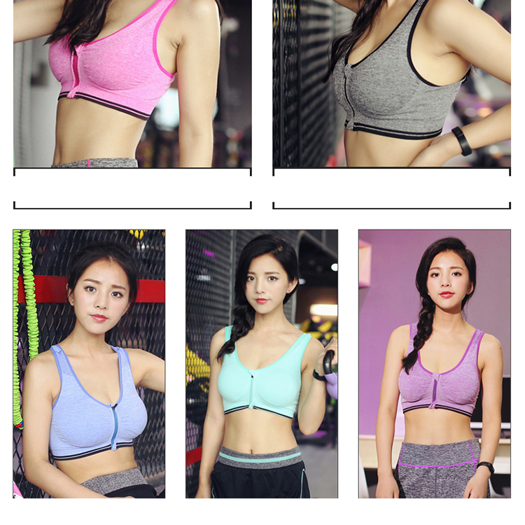 Sports Bras Padded Seamless High Impact Support for Yoga Gym Workout Fitness