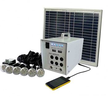 High Quality 5W Portable Mini Home Solar Power System With Four Bulbs