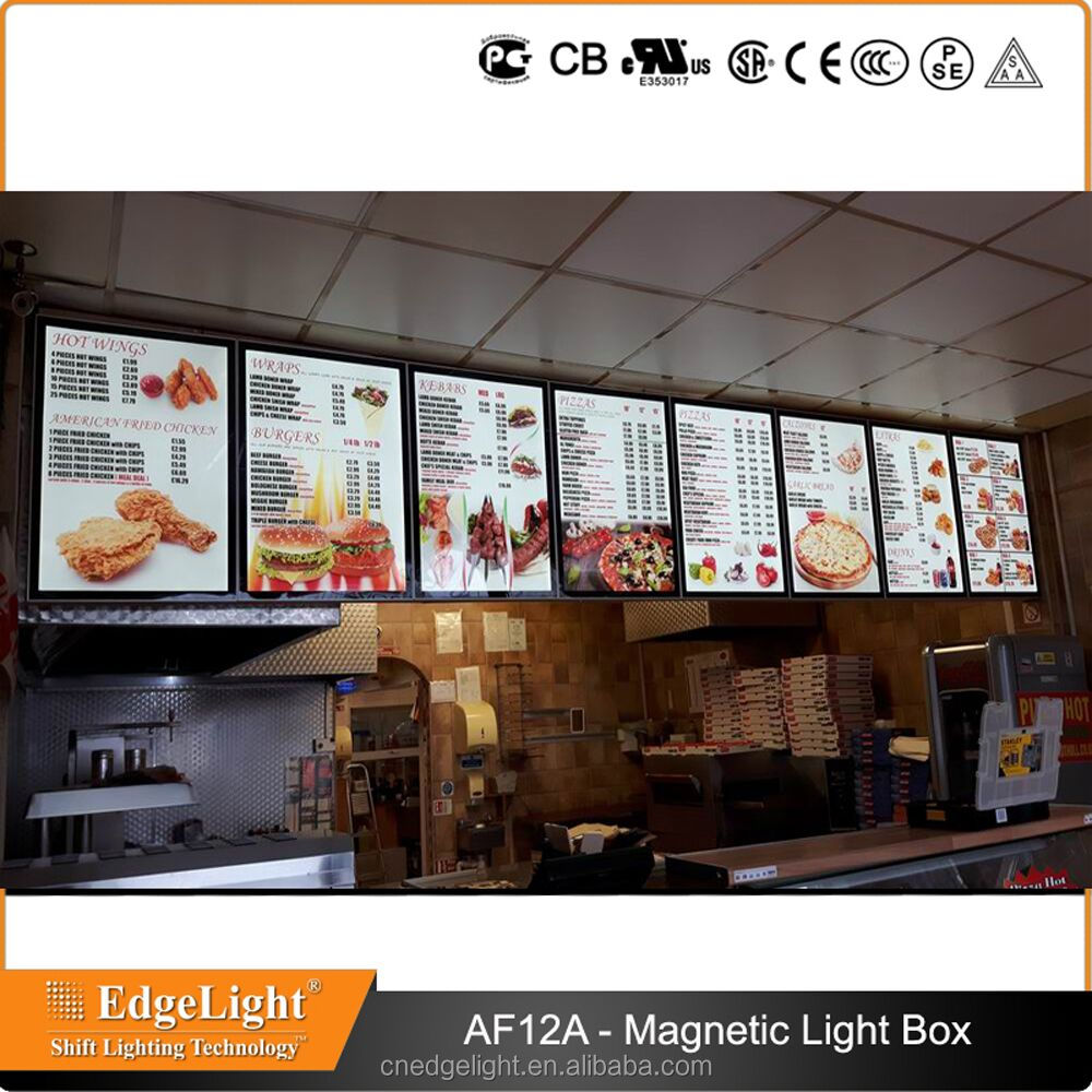 Edgelight brand A1 A2 A3 A4 A5 light box with CE UL ROHS