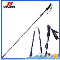 KANGLISHI 2017 high quality easy carry Foldable walking sticks camping sticks trekking poles other outdoor products