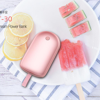 2019 Newest Ice Cream USB Hand Warmer Power Bank 5000mah