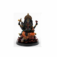 Custom-made handmade hot new product statue figure black resin of Hindu Elephant