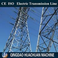 Electric power 220kv transmission line angular steel towers