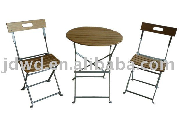 outdoor folding wooden &metal furniture