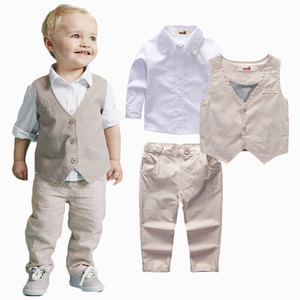 2018 baby suit kids wear boutique clothing wholesale bulk boys dress pants suits toddler boy clothes suits online toddler outfit
