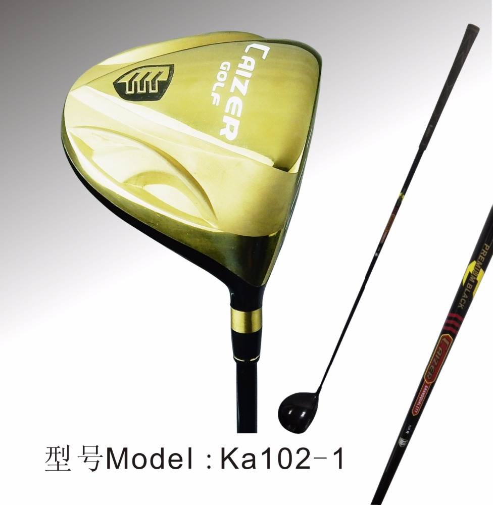 2018 Hot Selling Caiton Gold Color Golf Driver, Custom Golf Wood Head, China Factory Wholesale Golf Club Ka102-1