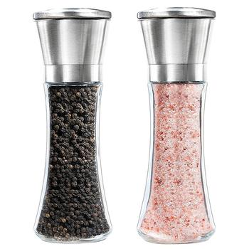 X-RAINBRIDGE 2-Pack Stainless Steel salt and pepper grinder set Pepper Mill and Salt Grinder pepper grinder