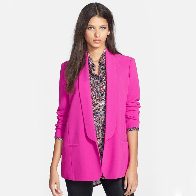 2bf277d1e5 Buy 5 Colors Blazer Feminino 2015 Autumn Candy Color All-match Slim Long  Sleeve No Button Blazer XS-XXL Women Blazers And Jackets in Cheap Price on  ...