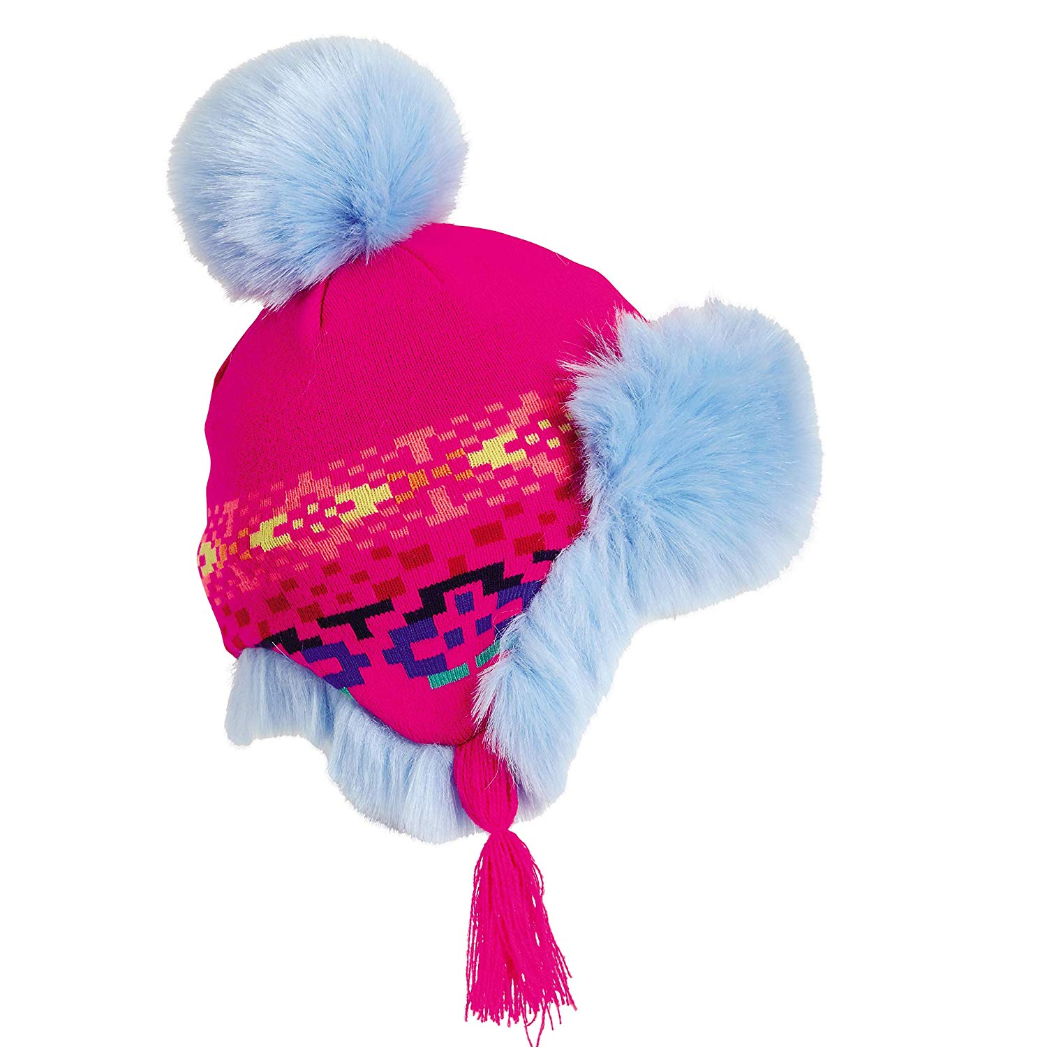 653f08166dcd5 Get Quotations · Turtle Fur Kids Poodle Earflap Hat Fully-Lined w Faux Fur