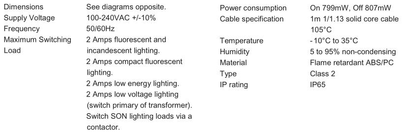 Fixture External 0-10 Volt Dimming Sensor With Ip65