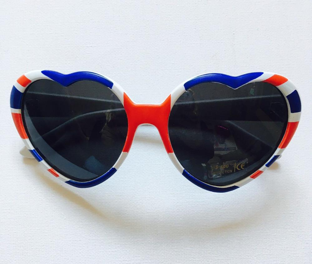 New Union Jack Love Heart Shaped Sunglasses Fancy Dress Royal Party Festival Book Day SD503