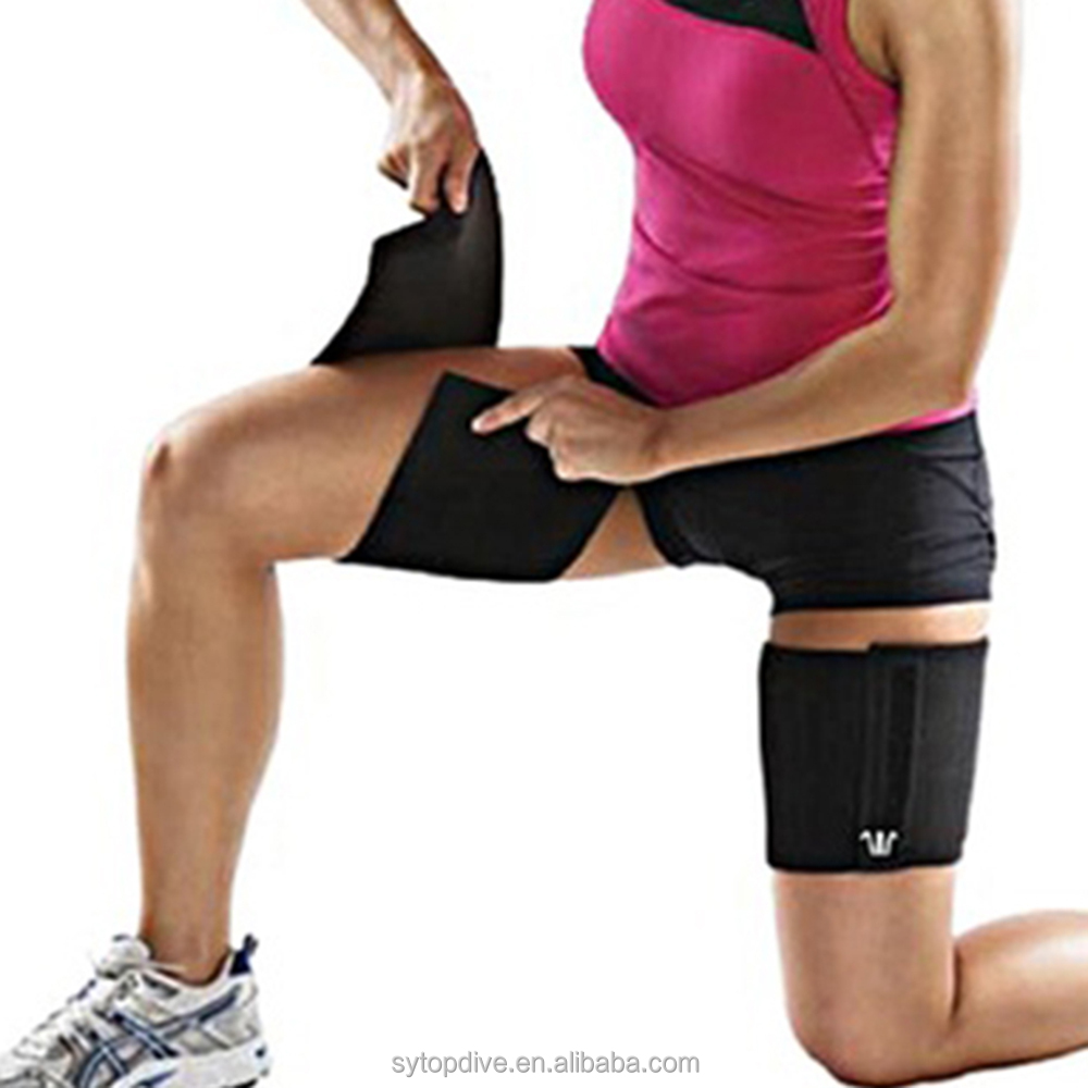 Eco-friendly Adjustable Neoprene Thigh Slimming Brace High Quality Neoprene Thigh Support Strap фото