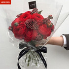 Transparent Flower Cellophane Glass Wrapping Tissue Paper Roll