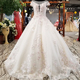 LS00219-1 Real sample wedding dress crystals embroidered heavy beading luxury turkish wedding dress in dubai casual bridal dress