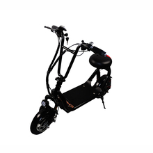 Customized black two wheel self balancing adult electric scooters with lcd screen and light