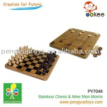 2 in 1 game set(Chess set+Nine Men Morris+Checkers)