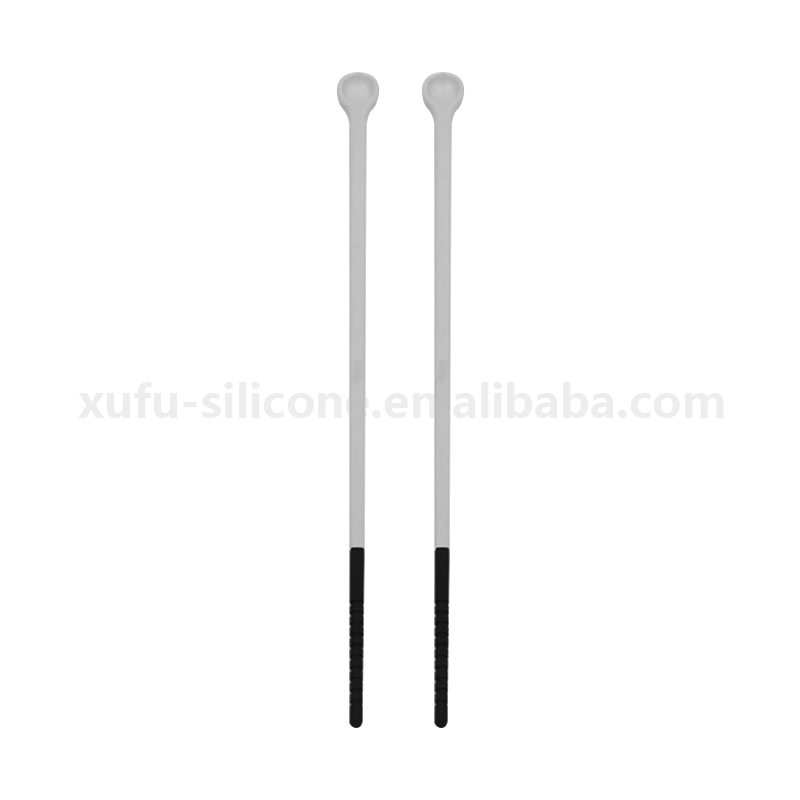 Tableware stainless steel chopsticks with silicone head cover