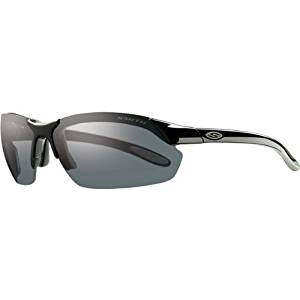 855f5747f6 Smith Optics Parallel Max Premium Performance Rimless Polarized Lifestyle  Sunglasses Eyewear - Black Gray