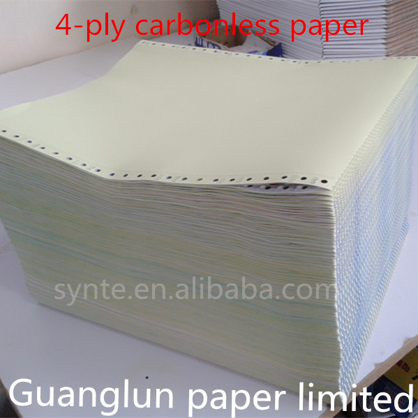 printed invoice forms computer paper 4-ply Quality Carbonless Paper NCR Paper continuous forms printing