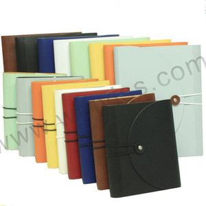 Internal Spiral Bound Leather Journals / Notebooks with Button & String Closure