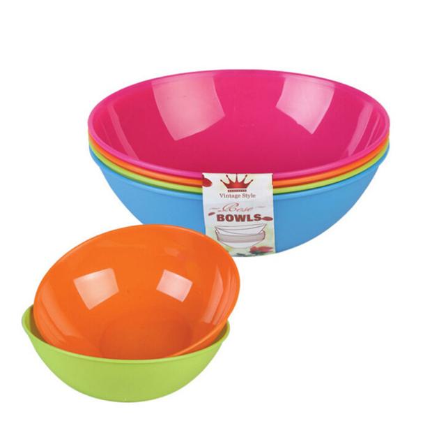 Set of 4 Colourful Plastic 16cm Kids Bowl