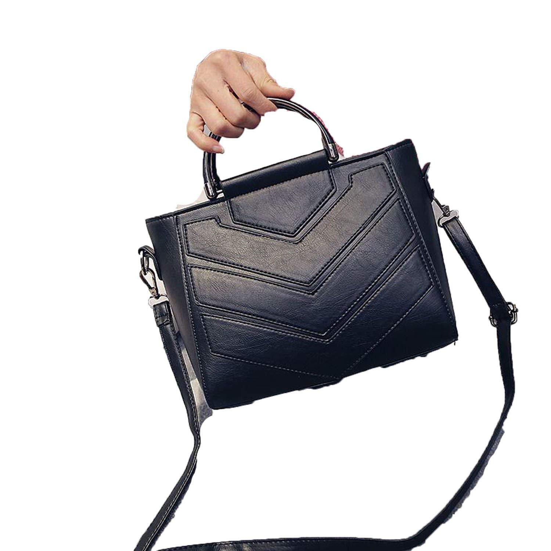 Get Quotations · Pu Leather Handbag Shoulder Tote Women Bag Satchel  Messenger Crossbody Bags Soft Black Women s Bag Handbags bd25106c22