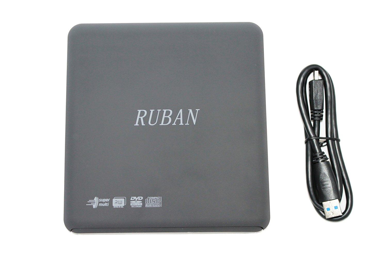 RUBAN 24x Slim USB 3.0 External Cd DVD Rw+- ± Cdrw Dvdrw Combo Burner Writer Drive for All Windows Xp WIN 7 Vista Linux Mac 10 os system Lenovo Asus Sony Gateway Dell Macbook Loptop Pc Portable (CD/DVD-RW-3.0)