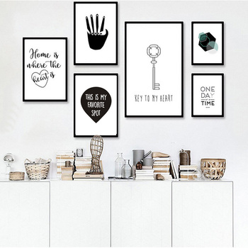 Black And White Nursery Canvas Painting Posters Prints Cartoon Nordic Art Wall Pictures Drop Shipping Minimalist