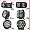 10w 20w 35w 40w 50w 70w cree led work lamp led car accessories driving light SUV boat driving lamp flood and spot with ip68