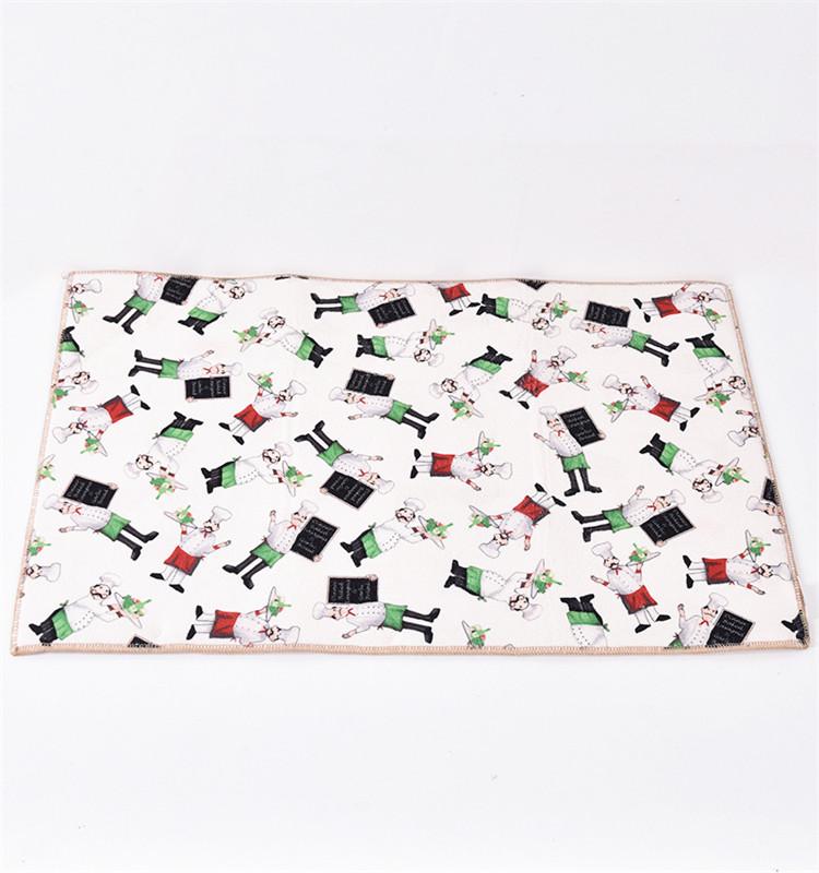 Table place mat rectangle kitchen mat - heap resistant