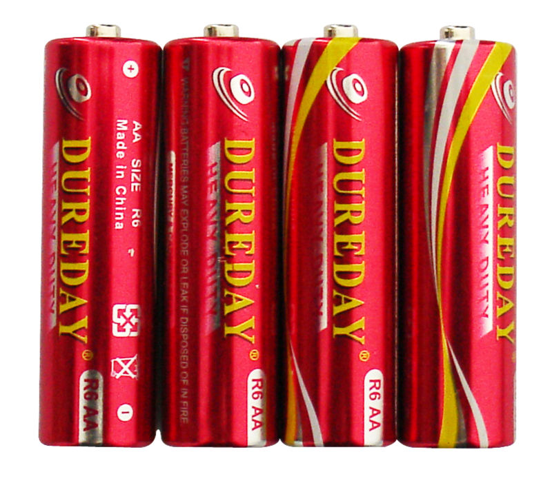 super heavy duty industrial matching R6P AA battery