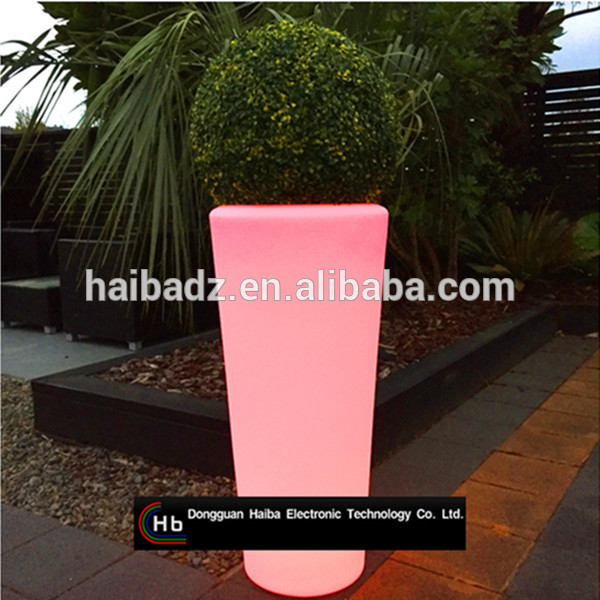 luminous LED flower pot flower pot plastic injection moulds solar flower pot