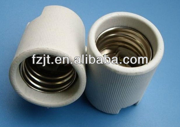 Porcelain fluorescent lamp base,screw shell type lampholder
