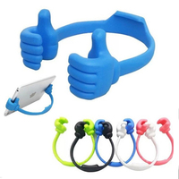 promotion funny multiple colors silicone thumbs phone holder stand