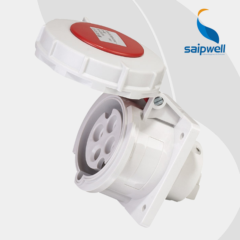 Wholesale Saipwell 4P (3P+E) 400V 32A cee plug and socket IP67 EN / IEC 60309-2 weatherproof socket SP234