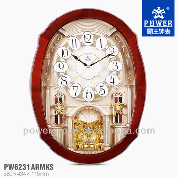 Wall clock dial dances with the rhythm wooden frame with water print wall clock dial dances with the rhythm wooden frame with water print process led light mozeypictures Gallery