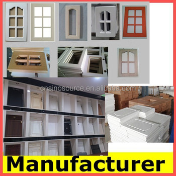China manufacture kitchen furniture Pvc Cabinet Door used kitchen ...