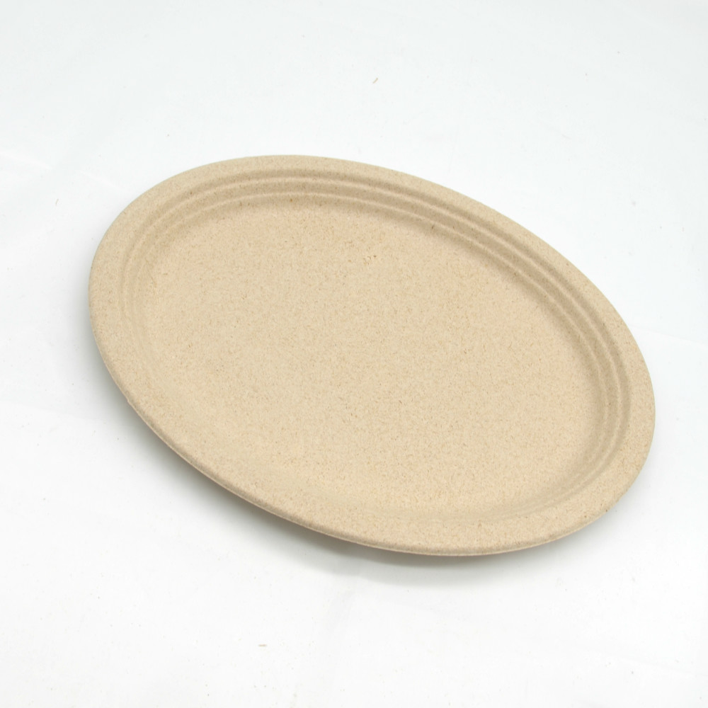 Ecofriendly paper pulp sugarcane compostable plates with customize
