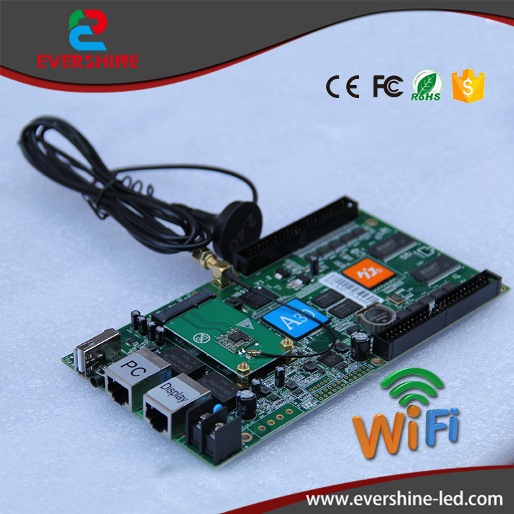 HD-A30 full color Asynchronous control card 1024W*512H pixels used to large display screen sending card