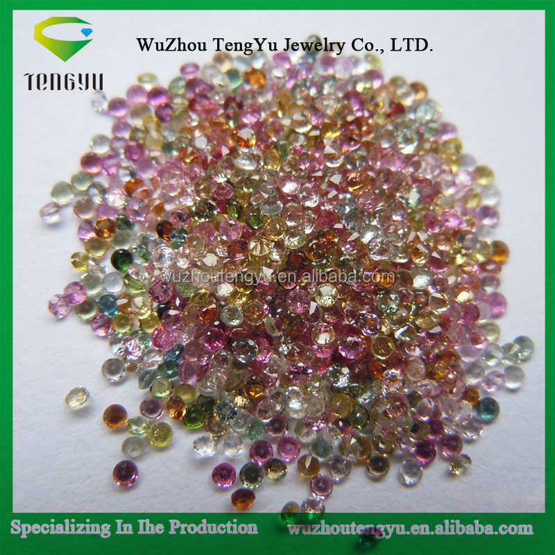 loose gems Natural Tourmaline round Cut Loose Gemstone for jewelry