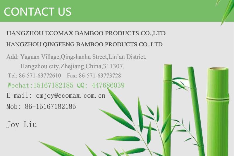 Massief bamboe Kwart Ronde voor indoor vloeren accessoires, verkoolde horizontale, 100% bamboe