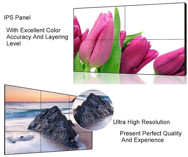 Hot Sale 1x4 Seamless Lcd Video Wall 3.5mm Bezel LCD Video Wall Screen